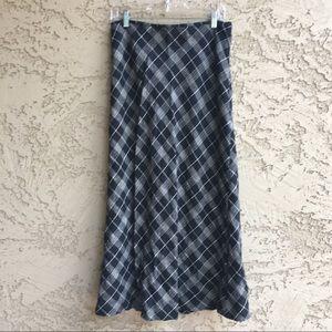 MERONA Plaid Maxi Skirt Fall Winter Long Length